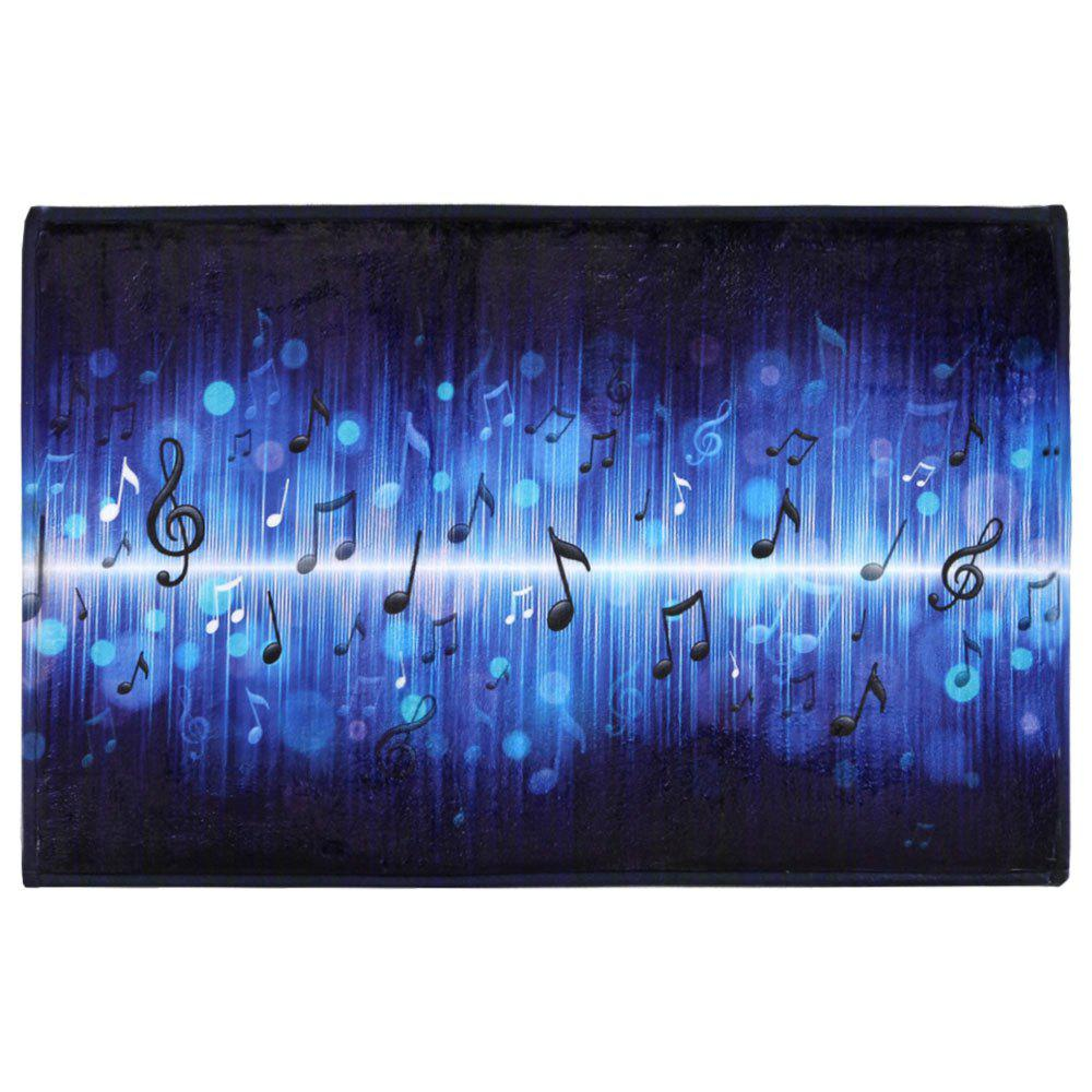 Non-slip Coral Velvet Music Note Floor RugHOME<br><br>Size: W16 INCH * L24 INCH; Color: BLUE; Products Type: Bath rugs; Materials: Coral FLeece; Pattern: Print; Style: Fashion; Shape: Rectangle; Package Contents: 1 x Area Rug;