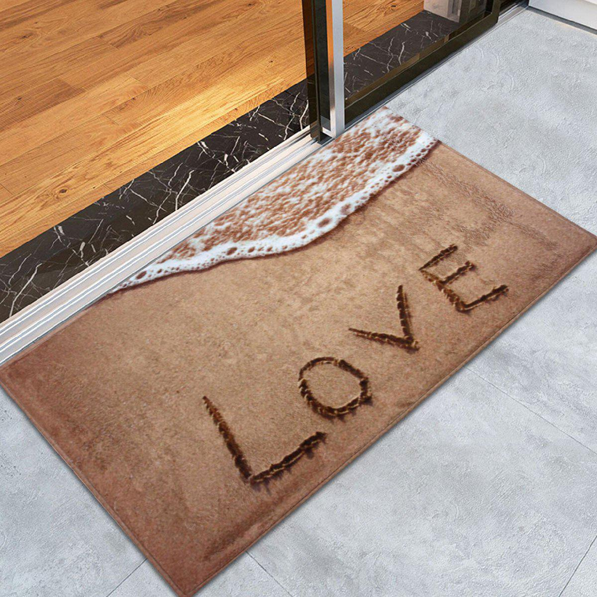 Coral Velvet Antislip Beach Style Bathroom RugHOME<br><br>Size: W24 INCH * L35.5 INCH; Color: LIGHT BROWN; Products Type: Bath rugs; Materials: Coral FLeece; Pattern: Print; Style: Beach Style; Shape: Rectangle; Package Contents: 1 x Area Rug;