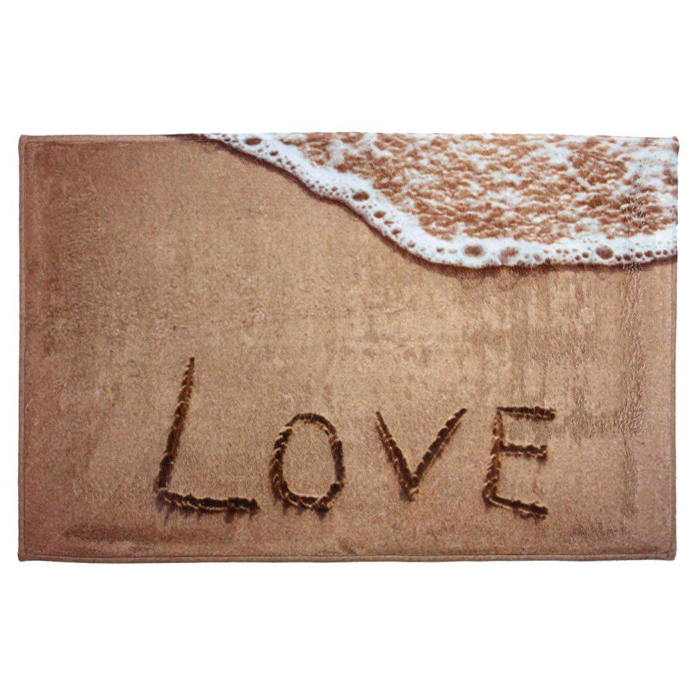 Coral Velvet Antislip Beach Style Bathroom RugHOME<br><br>Size: W16 INCH * L24 INCH; Color: LIGHT BROWN; Products Type: Bath rugs; Materials: Coral FLeece; Pattern: Print; Style: Beach Style; Shape: Rectangle; Package Contents: 1 x Area Rug;