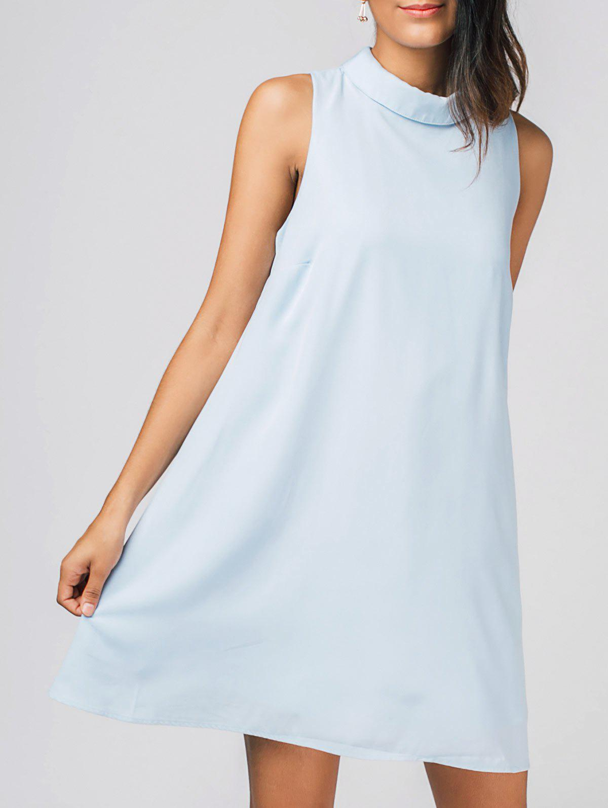 Affordable Keyhole Chiffon Mini Dress