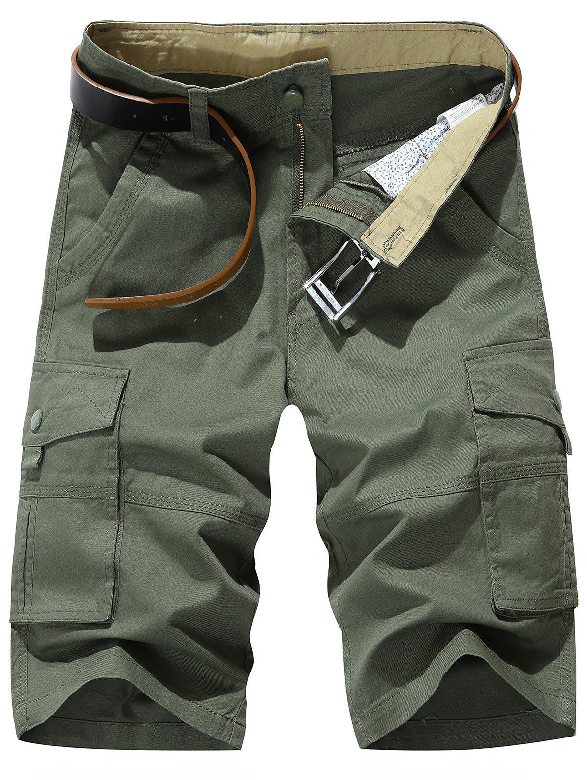 Outfits Zipper Fly Chino Cargo Shorts