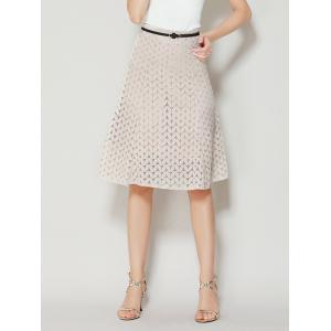 High Waist A Line Lace Skirt