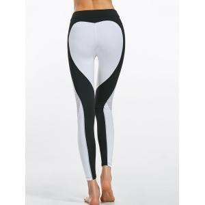 Heart Shaped Workout Leggings with Mesh Panel