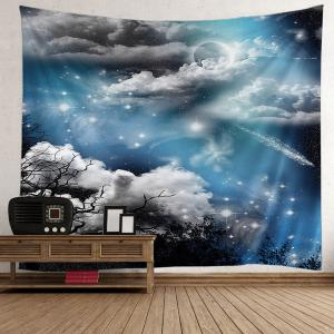 Night Moon Star Decorative Tapestry - Light Blue - W59 Inch * L59 Inch