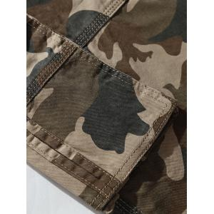Zipper Fly Chino Cargo Shorts - ARMY GREEN CAMOUFLAGE 33