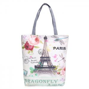 Printed Canvas Shoulder Bag - White