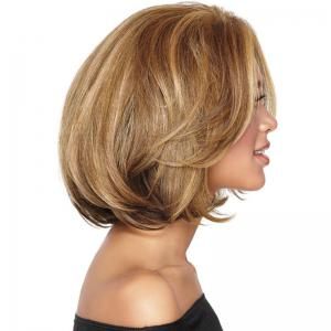 Colormix Short Bob Straight Synthetic Wig -