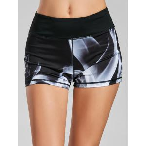 Quick Dry Lights Printed Mini Fitness Tights