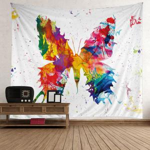 Wall Decorative Paint Splatter Butterfly Tapestry