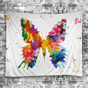 Wall Decorative Paint Splatter Butterfly Tapestry -