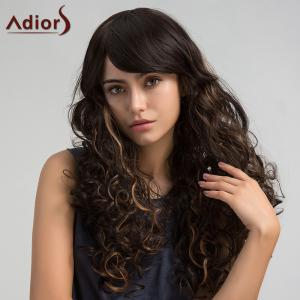 Adiors Long Side Bang Colormix Shaggy Layered Curly Synthetic Wig - Colormix - 14inch