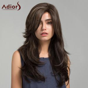 Adiors Long Colormix Side Bang Slightly Curly Synthetic Wig