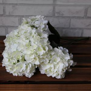 Home Living Room Party Decorative Ombre Artificial Flowers - WHITE