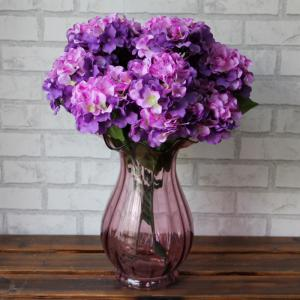 Home Living Room Party Decorative Ombre Artificial Flowers - Purple - One Size