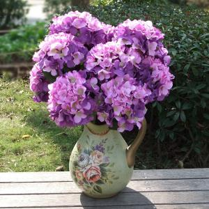 Home Living Room Party Decorative Ombre Artificial Flowers - PURPLE