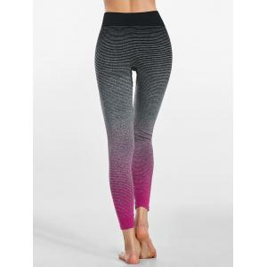 Ombre Striped Ninth Workout Leggings -