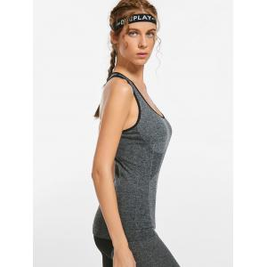 Marled Racerback Sports Tank Top -