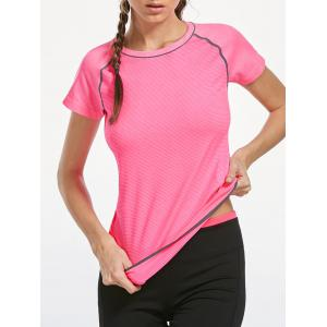 Breathable Raglan Sleeve Gym T-shirt