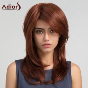 Adiors Long Side Bang Straight Synthetic Wig