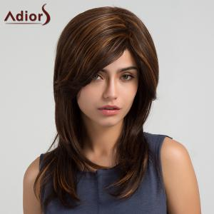 Adiors Long Side Part Layered Highlight Natural Straight Synthetic Wig