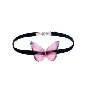 Butterfly Embellished Choker Necklace