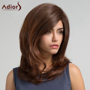 Adiors Long Side Bang Slightly Curly Synthetic Wig