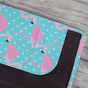PU Leather Print Passport Holder -