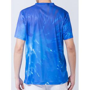 Short Sleeve Abstract Graphic Tie Dye Print T-shirt -