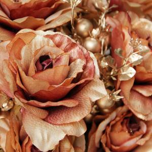 Home Living Room Party Decoration Vintage Artificial Flowers - GOLDEN