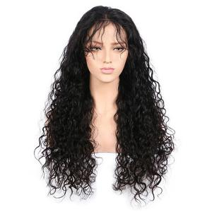 Free Part Long Kinky Curly Lace Front Synthetic Wig -