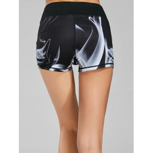 Quick Dry Lights Printed Mini Fitness Tights -