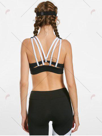 Buy Padded Gym Bra with Straps - S BLACK Mobile