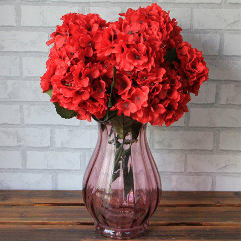 Online Home Living Room Party Decorative Ombre Artificial Flowers BRIGHT RED