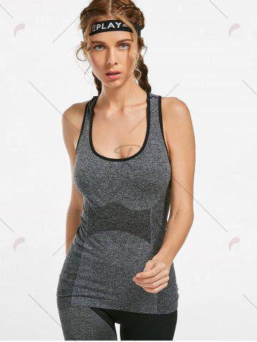 Buy Marled Racerback Sports Tank Top - S GRAY Mobile