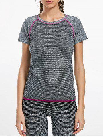 Outfits Breathable Raglan Sleeve Gym T-shirt GRAY L