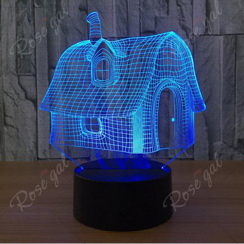Sale Color Change 3D House Shape Touch Night Light - TRANSPARENT  Mobile