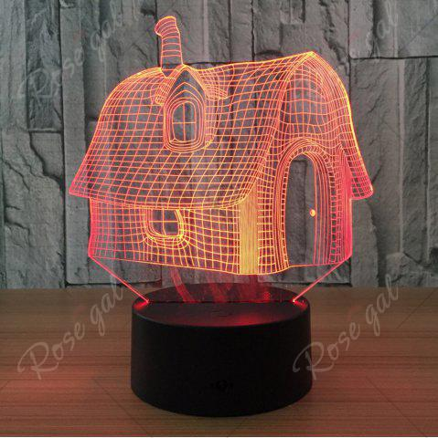 Shops Color Change 3D House Shape Touch Night Light - TRANSPARENT  Mobile