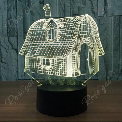Shop Color Change 3D House Shape Touch Night Light - TRANSPARENT  Mobile