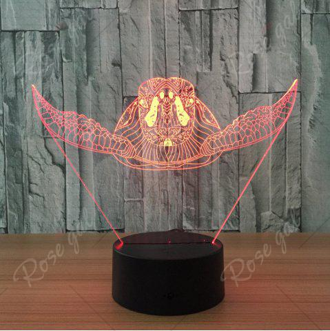 Online Sea Turtle Shape Color Changing Touch 3D Night Light - TRANSPARENT  Mobile