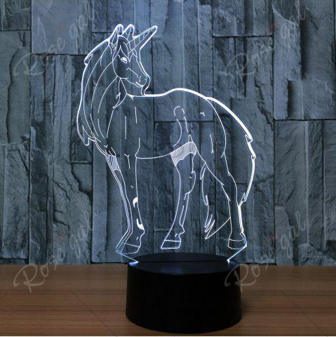 Store 3D Unicorn Shape Color Changing Decorative LED Night Light - TRANSPARENT  Mobile