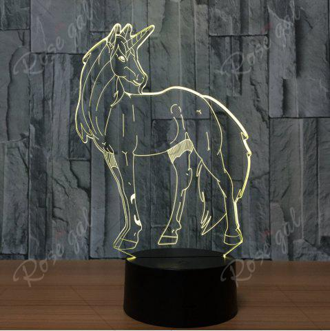 Unique 3D Unicorn Shape Color Changing Decorative LED Night Light - TRANSPARENT  Mobile