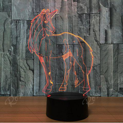 Fashion 3D Unicorn Shape Color Changing Decorative LED Night Light - TRANSPARENT  Mobile