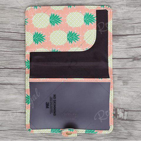 Outfits PU Leather Print Passport Holder - YELLOW  Mobile