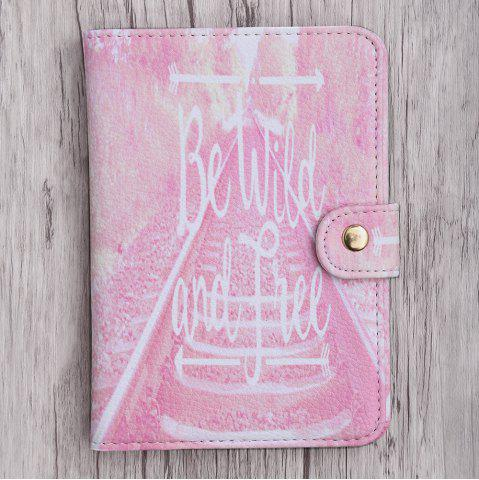 Outfits PU Leather Print Passport Holder - PINK  Mobile