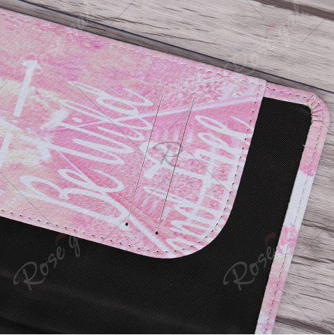 Buy PU Leather Print Passport Holder - PINK  Mobile