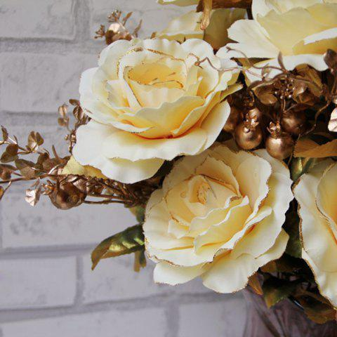 Buy Home Living Room Party Decoration Vintage Artificial Flowers - YELLOW  Mobile