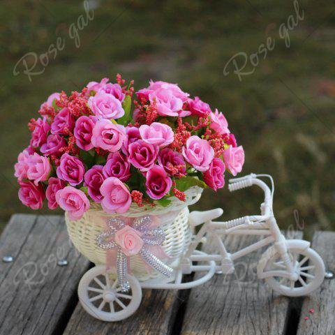 Chic Home Living Room Decoration Artificial Flowers With Basket Bike - TUTTI FRUTTI  Mobile
