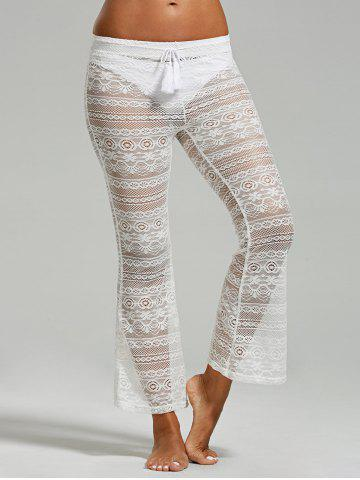 29 Off Palazzo Crochet Lace Beach Pants Rosegal