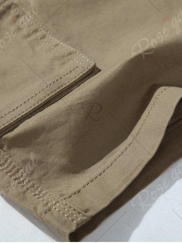 Sale Zipper Fly Chino Cargo Shorts - 33 ARMY GREEN Mobile