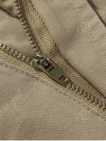 Latest Zipper Fly Chino Cargo Shorts - 34 ARMY GREEN Mobile